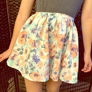 2/$15 skirt sale! XS babydoll style floral skirt
